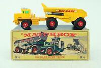 Matchbox Lesney KingSize No K-2 KW-Dart Dump Truck - Made In England - Boxed