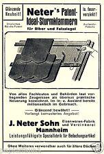 Eisenwaren Neter Mannheim Reklame 1926 Dachziegel Dachdecker Klammern Paptent Ad