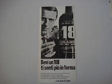 advertising Pubblicità 1966 AMARO 18 ISOLABELLA