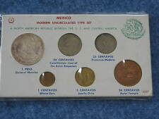 Mexico Modern Uncirculated 6 Coin Type Set 1964-1968 B8278