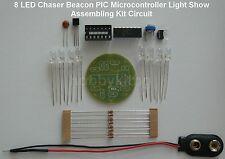 LED verte Chaser Beacon pic LIGHT SHOW STROBOSCOPE Kit - (8 x 5 mm LED) 9905 vert