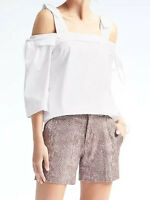 NWT Banana Republic $78 Women Easy Care Off-the-Shoulder Bow Top ST,MT,LT,XL,XLT