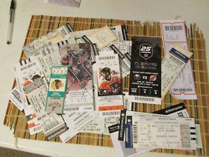 NHL TICKET STUBS 1981-2016 LOT OF 65