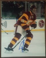 TIM JACKMAN Signed CALGARY FLAMES HERITAGE 8 x 10 PHOTO AUTOGRAPH