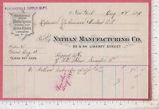 B294 Nathan Manufacturing billhead NYC, Delaware Lackawana & Western Railroad
