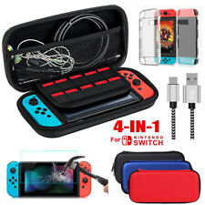 For Nintendo Switch Travel Carry Case Bag+Protector+Charging Cable+Shell Cover