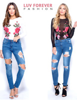 Parisian Mesh Floral Embroidered Patch Bodysuit Party Top