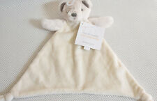 MOTHERCARE SNUGGLE WHITE TEDDY BEAR BLANKIE COMFORTER BABY SOFT TOY BN WITH TAG
