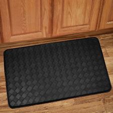 "Memory Foam Anti Fatigue Kitchen Floor Mat Rug 30"" x 18"" - Diamond Black"
