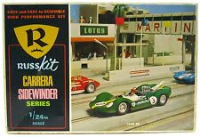 Vintage 1960's RussKit Lotus 40 Carrera Series 1/24 Slot Car w/Box Mint Chassis