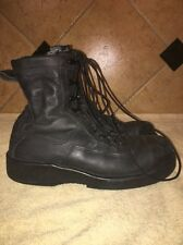 Wellco Black Leather  Steel Toe Military Combat Steam Punk Boots Size 7 M