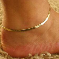 Damen Fußfessel Fusskettchen Fusskette Gliederkette Fußband Anklet Gold