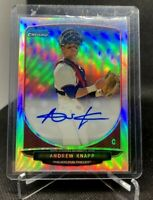 Andrew Knapp 2013 Bowman Chrome Draft Refractor #BCA-AK Auto Phillies RC