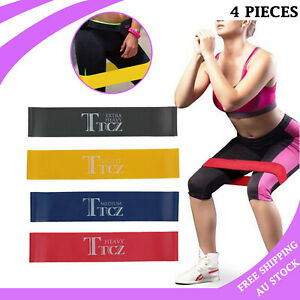 4PCS Resistance Band Loop GYM Power Exercise Yoga Fitness Strength Training