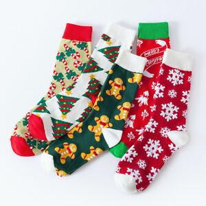Men Women Christmas Pattern Fun Art Cotton Socks Funky Sox Novelty Socks