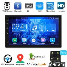 """Android 7.1 Bluetooth Car Stereo Radio 2 DIN 7"""" MP5 Player GPS Wifi +Rear Camera"""