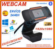 WEBCAM 1080p. USB + micrófono .1920x1080p .Instalación automática .Envíos 24/48h