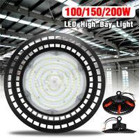 100/150/200W UFO LED Projecteur High Bay Lampe Magasin Usine Lumière Commerciale