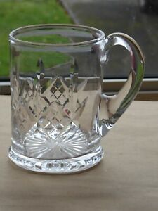 Vintage Stuart Crystal Glengarry One Pint Tankard 4.8 inches Tall Signed