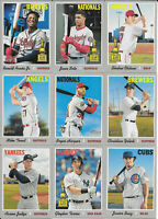 2019 Topps Heritage Baseball SP 401-500 JUDGE OHTANI TROUT Bryant RIZZO Acuña Jr