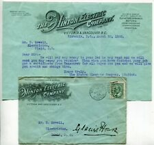 Canada British Columbia - Victoria 1903 Electric Cover / Letter - Stamp Replaced