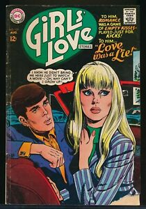 GIRL'S LOVE STORIES No. 129 1967 DC Romance Comic Book LOVE WAS A LIE 2.0 GD
