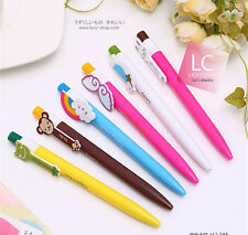 5 pcs/Lot Cartoon ballpoint pens Kawaii Stationery 0.38mm ball pen Writing