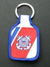USCG COAST GUARD EMBROIDERED KEY RING CHAIN KEYRING KEYCHAIN 1.75 X 2.75 INCHES