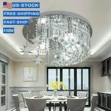 Crystal Moon Star K9 LED Light Modern Ceiling Lamp Chandelier