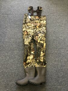 KOBUK Men 3.5mm MAX-4 Camo Hunting Neoprene Wader Lug Boots Size 10 KING DuraTex