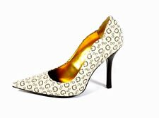 New Authentic Guess Pumps By Marciano Chaya2  Beige/Gold Fabric Size 7.5