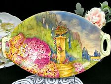 Royal Winton bowl hand painted extensive floral garden scene by H C Lea SIGNED