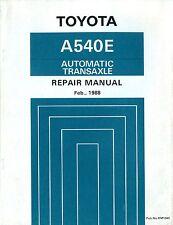 1988 TOYOTA A540E AUTOMATIK TRANSAXLE WERKSTATTHANDBUCH REPAIR MANUAL RM104E