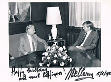 """Belgium Minister Willy De Clercq 1927-2011 autograph signed 6""""x8"""" photo"""