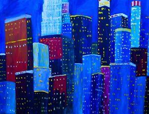 MY LA Cityscape Natasha Petrosova original oil painting 18x24 inch