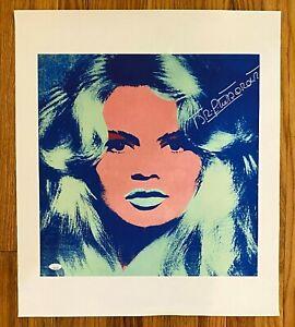 Brigitte Bardot Signed 20x24 Andy Warhol Canvas Print AUTO JSA Sticker ONLY
