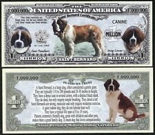 Saint Bernard Dog Bill Puppy & Adult Pics, Common Traits on Back- Lot of 2 BILLS