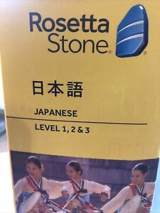 Rosetta Stone Japanese v4 Totale Level 1-3 Set SEALED for PC & Mac