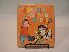 Animals in Mother Goose  A Whitman Tell-a-Tale Book  1970 Vintage