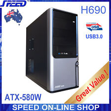 SPEED H690 USB3.0 PC Tower Case with Speed ATX-580W PSU for Office or Home PCs