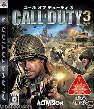 Used PS3 Call of Duty 3  SONY PLAYSTATION 3 JAPAN JAPANESE IMPORT
