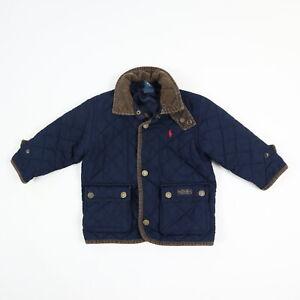 Polo Ralph Lauren Polo Quilted Barn Coat Jacket w/ Corduroy Collar Baby sz 18M