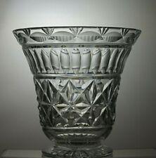 LOVELY RARE HEAVY LEAD CRYSTAL CUT GLASS VASE