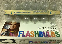 New And Used Box Of Sylvania Blue Dot Flash Bulbs Press 25B 12 Clear bulbs in