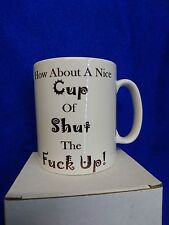 """NICE CUP OF SHUT THE F*CK UP"" PRINTED MUG-FUNNY-TOOL-SNAP ON-SPANNER-VAN-CAR"