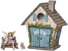Joykick Fairy Garden House Kit – Miniature Figurine Statues With Accessories Set