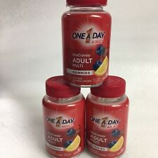 One A Day MEN WOMEN VitaCraves Immunity Support 3- 40 Count Gummies EXP 6/20