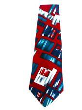 "City Streets Maroon Retro Design Men's Necktie Neck Tie Sleeved USA 3.75""x57"""