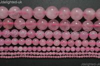 Natural Rose Quartz Gemstone Round Beads 2mm 3mm 4mm 6mm 8mm 10mm 12mm 14mm 16""