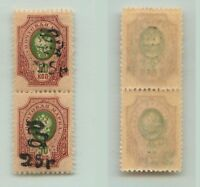 Armenia 1920 SC 155 mint, black Type F or G, vertical  pair. e9431
